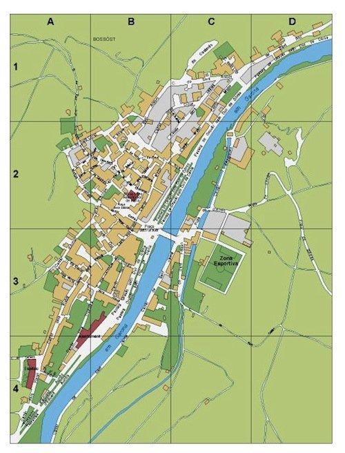 mapa Bossost