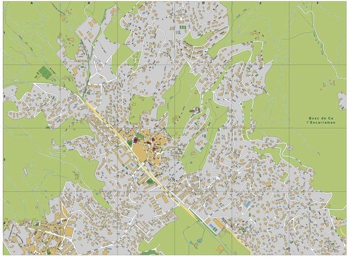 mapa Cabrils