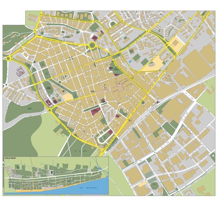 mapa Gava