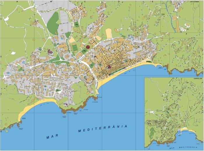 mapa Lloret de Mar