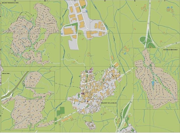 mapa Macanet de la Selva