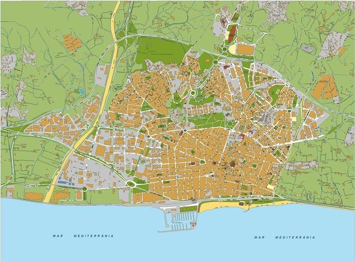 mapa Mataro
