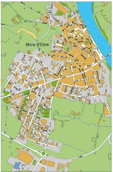 mapa Mora Ebre