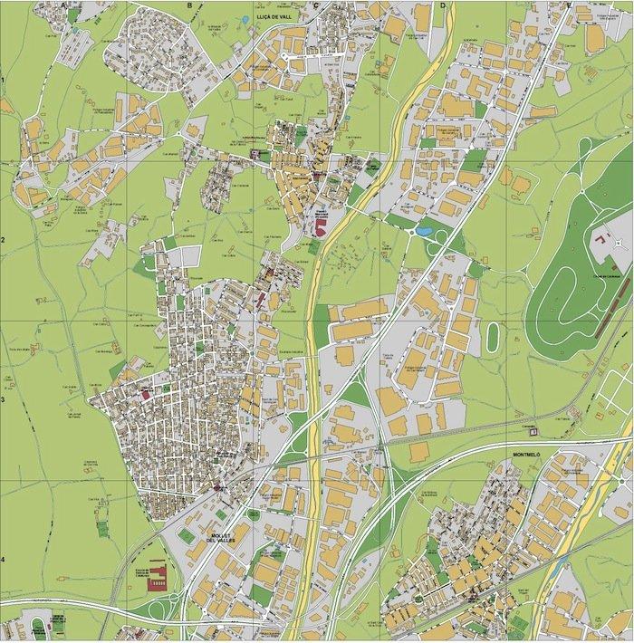 mapa Parets del Valles