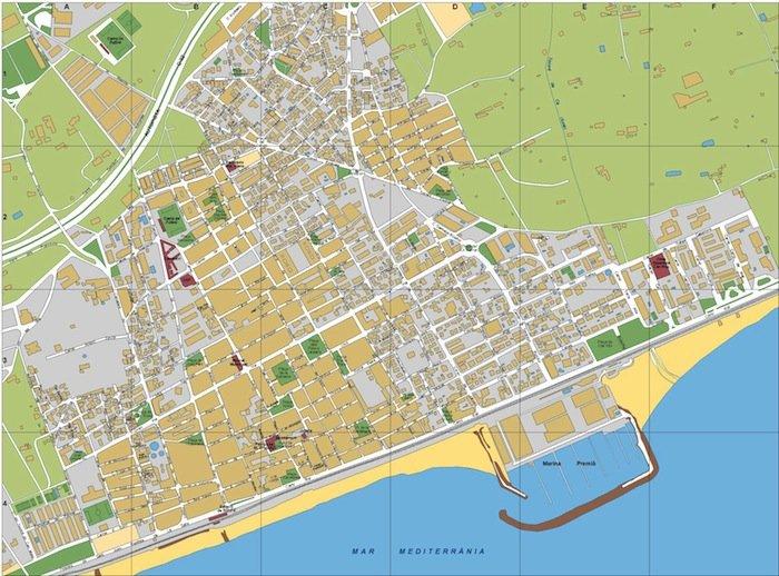 mapa Premia de Mar