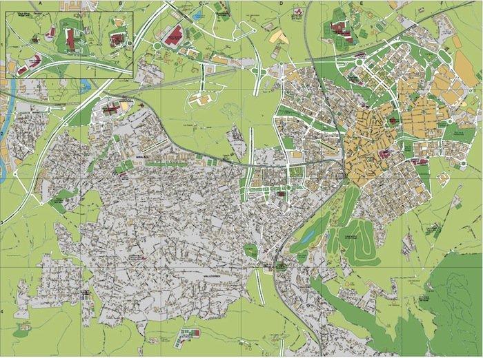 mapa Sant Cugat del Valles
