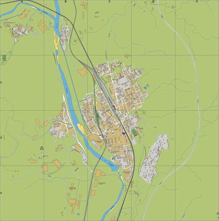 mapa Sant Vicens Castellet