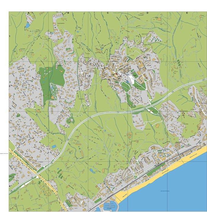 mapa Sant Vicens de Montalt
