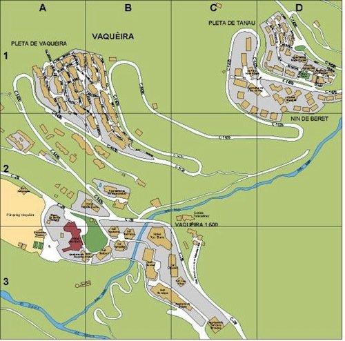 mapa Baqueira Beret