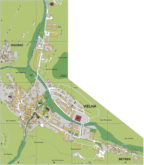 mapa Vielha