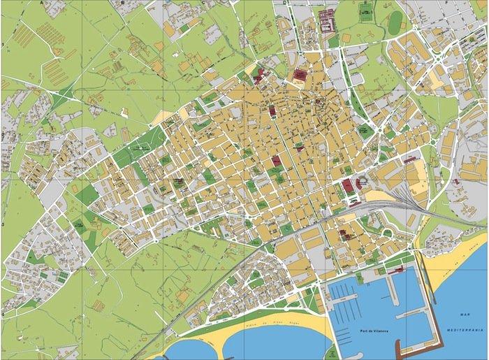mapa Vilanova i la Geltru