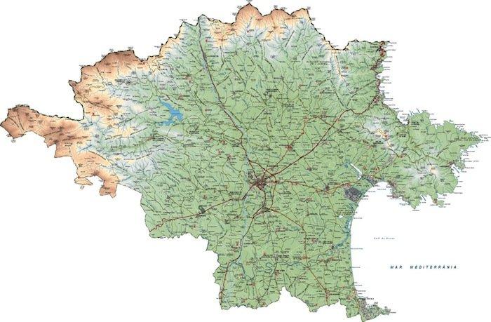 mapa alt emporda