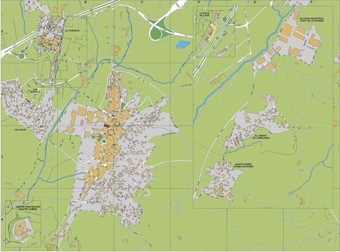 mapa la Roca del Valles