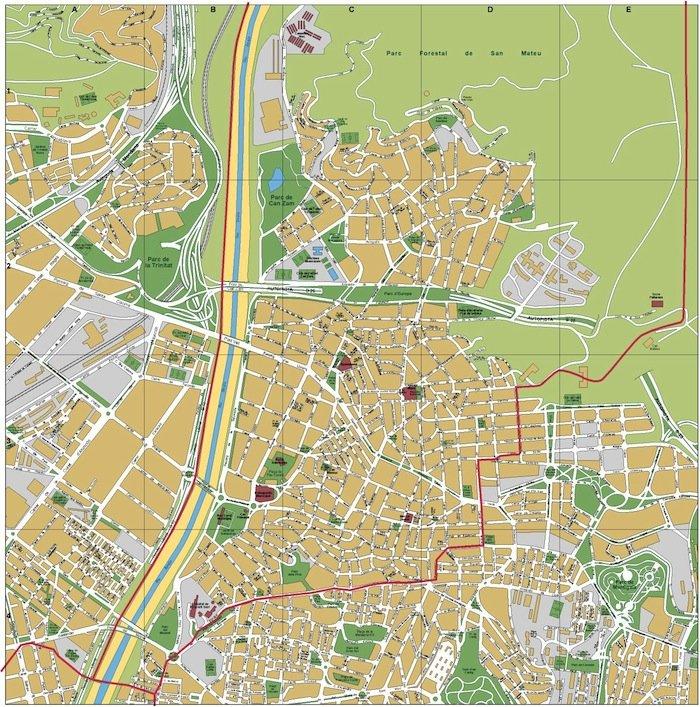mapa santa coloma gramenet